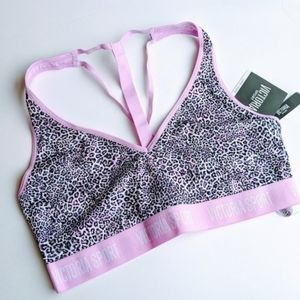 Victoria's secret leopard pink sports bra size l